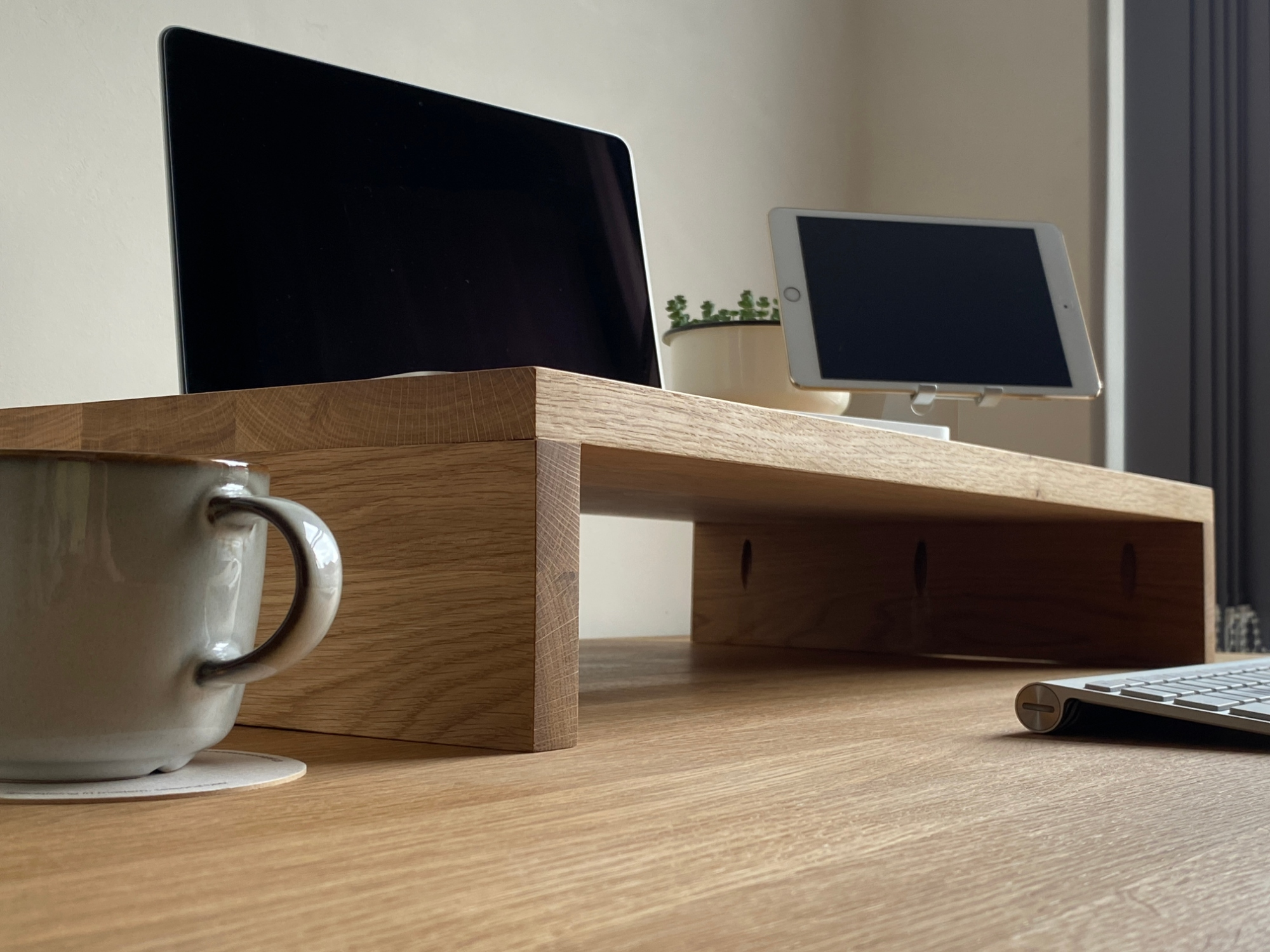 Custom Size Solid Wood Monitor Tv Stand Sit Stand Desk Tops